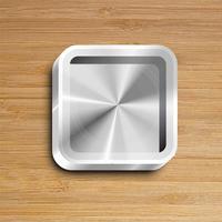 Realistic app icon, vector