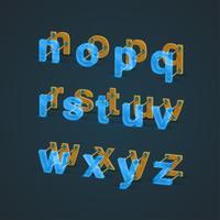 Jeu de caractères 3D et réaliste en bois et bois, vector