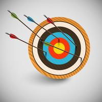 Arrow and a dartboard, vector