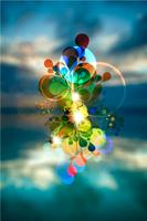 Photographic absctract vector background