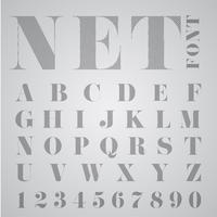 NET alphabet, vector