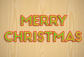 'Merry Christmas' lettertype collectie, vector