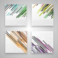 Colorful business labels, vector