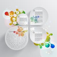 Colorful template for advertising, vector illustration