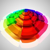 Colorful circle 3D, vector