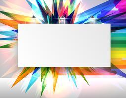 Realistisch aanplakbord met lichten, vectorillustratie