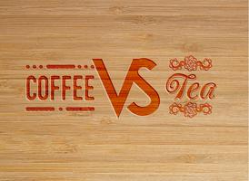 Coffee and tea carved artwork, vector