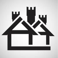 Accomodation icon, vector