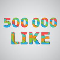 A number of likes made by colorful layered characters, vector illustration