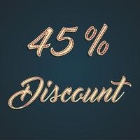 Signe de cuir «discount», illustration vectorielle