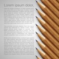 Template with realistic pencils, vector illustration