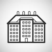 Accomodation icon, vector illustration