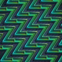 Colorful green zigzag abstract background, vector illustration