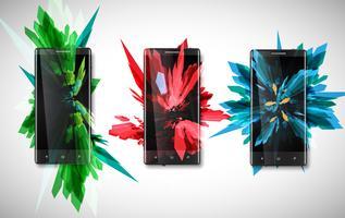 Kleurrijke telefoons, vector