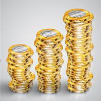 Realistische Münzen, Vektorillustration