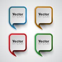 Färgrik vektor mall set