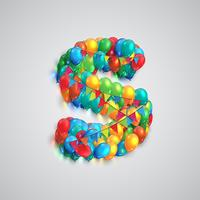 Fonte variopinta fatta da ballons, vettore