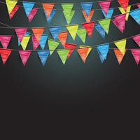 Festive background with flags, vector