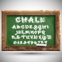 Chalk typeset on a chalkboard, vector