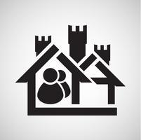 Accommodatie pictogram, vector