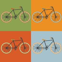 Oldschool style bycicle vector illustration