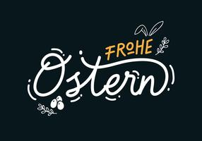 Frohe Ostern Lettering