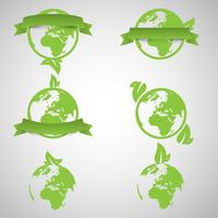 Green world ecology concepts, vector