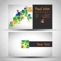Cartão de visita abstrato frente e verso design