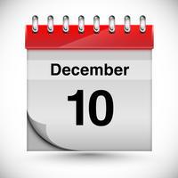 Calendario para diciembre, vector