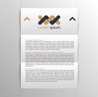Realistic A4 template for corporate identity