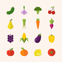 Flat Healthy Food Icons