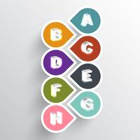 Abstract alphabetical infographic paper illustration