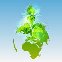 Mundo verde, vector