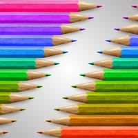 Realistic wooden colorful pencils, vector