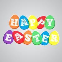 Ilustración colorida para la Pascua, vector