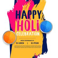 happy holi celebration invitation poster design