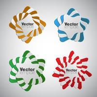 Resumen elementos de infografía, vector