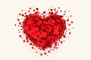 Fondo creativo del día de San Valentín del diseño del corazón