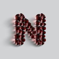 Uma carta feita por esferas vermelhas, vetor