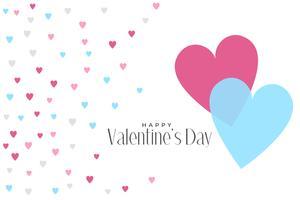 söta hjärtan mönster valentiner dag bakgrund