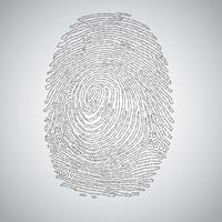 Fingerprint made by binary code, vector