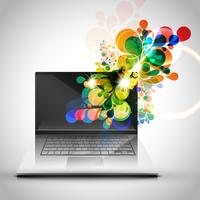 Bunte Laptopdesign-Vektorillustration
