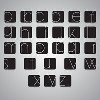 Jeu d'alphabet élégant de vecteur