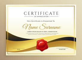 moderne premium certificaatsjabloon ontwerp