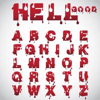 """Hell good"" made from flow font, vector"