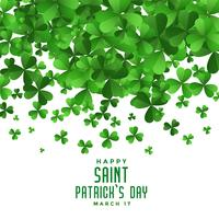 falling clover leaves saint patricks day background