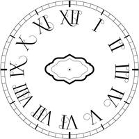 Horloge vintage de vecteur