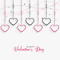 hanging hearts lovely valentines day background