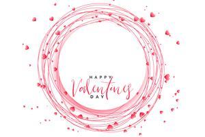 awesome hjärtan ram för valentines dag
