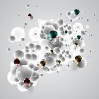 Colorful and white bubbles background, vector